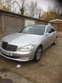 MERCEDES S320 FULLY LOADED TV DVD SD CARD pan roof FULL BLACK LEATHER IMMACULATE CONDINTION IN