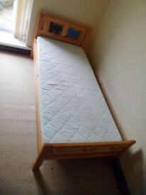 IKEA KRITTER BED FOR CHILDREN 3-10 YEARS WOODEN FRAME WITH SLATS AND MATTRESS USED