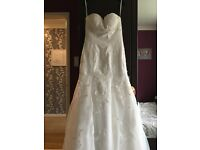 Princess wedding dress with court train size 10