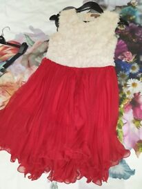 Jolie Moe Red and White dress