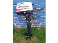 Mariner Sailmate 5hp 4 stroke outboard engine motor
