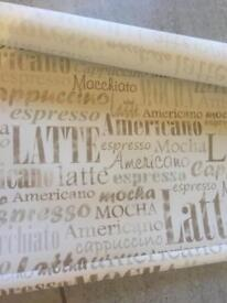 Roller blind from Hillary's cafe latte design