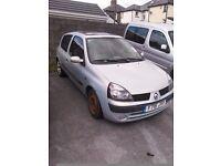 Free Renault Clio Diesel. Cheap tax. Spares or repairs.
