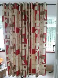 Two pairs Custom made interlined curtains