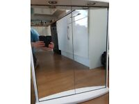 White Mirrored Bathroom Wall Cabinet With Lights