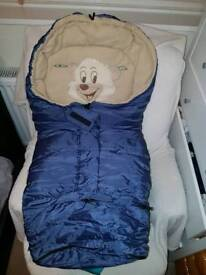 Sleeping bag baby pushchair footmuff
