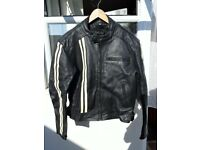 VINTAGE WEISE LEATHER BIKE JACKET M