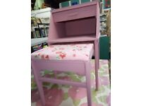 Vintage telephone table upcycled