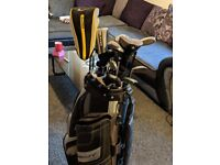 Set of Nike clubs irons and woods,with Nike bag