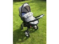 Special Edition Silver Cross 3 in 1 pram system, pushchair and carry cot.