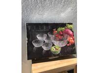 Set of Glass salad/fruit Bowls and Jug