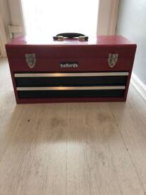 2 drawer metal tool chest/box