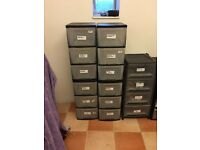 Plastic Storage drawers (3 drawers)