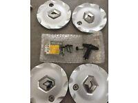Full set of locking Renault Alloy Wheel Caps