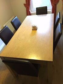 Urgent clearance - sofa set, dining table with 6 chairs, single & double beds, mattresses, cabinet