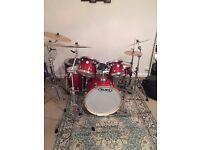 MAPEX MERIDIAN BIRCH DRUM KIT + cymbals, hardware, cases