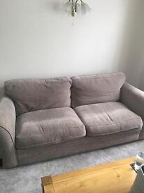 Sofa and matching storage footstool