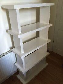 White book shelf / freestanding shelves