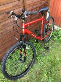 Apollo Feud Men Unisex MTB Mountain Bike Bicycle Red 20inch Frame/26inch Wheels
