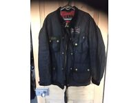 Belstaff Barbour Jacket Waxed, Steve McQueen style with Union Jack interior