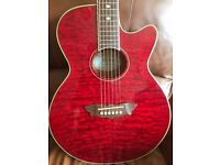 WASHBURN ELECTRO ACOUSTIC GUITAR AND GIG BAG