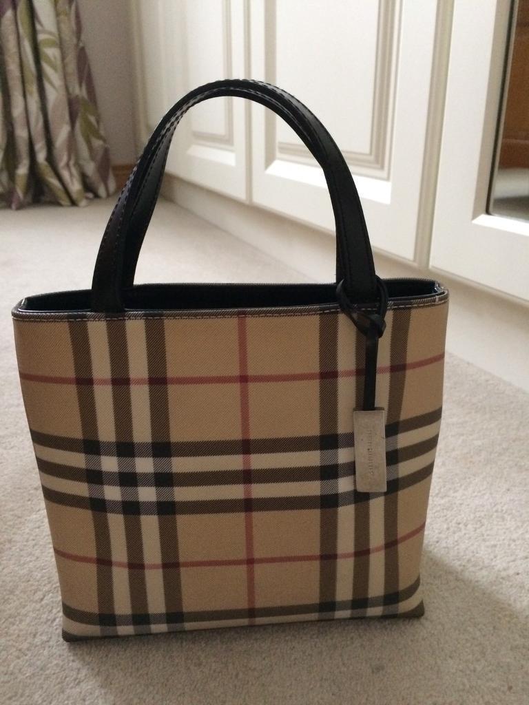 Genuine Burberry Tote Bag