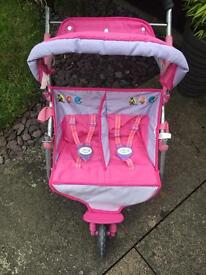 Baby Born Double Buggy - Open to Offers as Needs to be Sold
