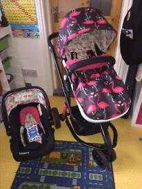 Giggle 2 baby travel system : Flamingo