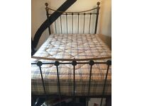 Victorian style metal frame double bed