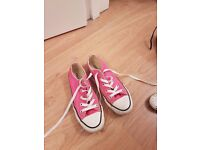 Girls Pink Converse trainers