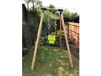 Childrens wooden framed swing