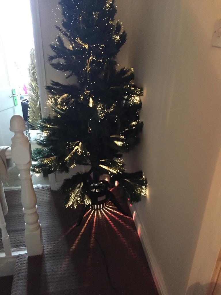 homebase 6ft fibre optic christmas tree