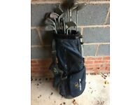 Set of right hand Golf Clubs with Bag and Trolley