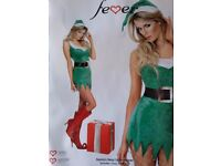 30478 Santa;s Saucy Little Helper Christmas Adult Fancy Dress, Green, Sm & Med