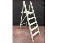Beautiful vintage retro painted wooden step ladders