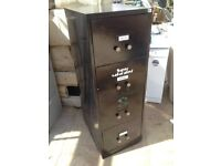 Vintage Black 4 Drawer filing cabinet