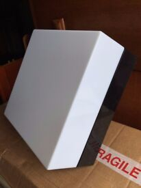 Ultra modern square ceiling or wall light brand new in box
