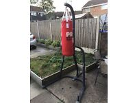 PUNCHING BAG AND STAND WITH GLOVES