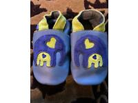 Inch Blue Toddler Leather Shoes, 12-18 months