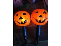 Light up pumpkin heads perfect for Halloween