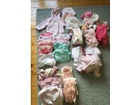 Mega Baby Girl Clothing Bundle 0-3 months