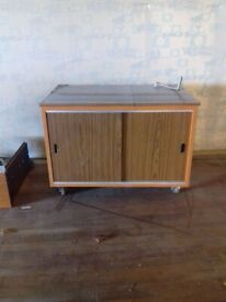 Vintage Cabinet on Wheels (READ DESCRIPTION)