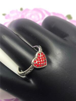 Brighton petite   red   ROCK ROMANCE crystal heart ring  new with tag  size 9