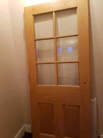 Solid oak doors with handles