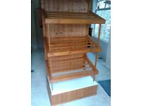 Professionally hand made wooden display shelves