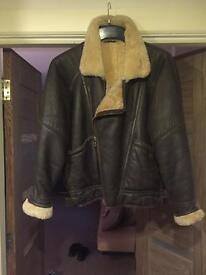 Men's leather/sheepskin flying jacket( SOLD)