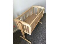 Mothercare swinging crib