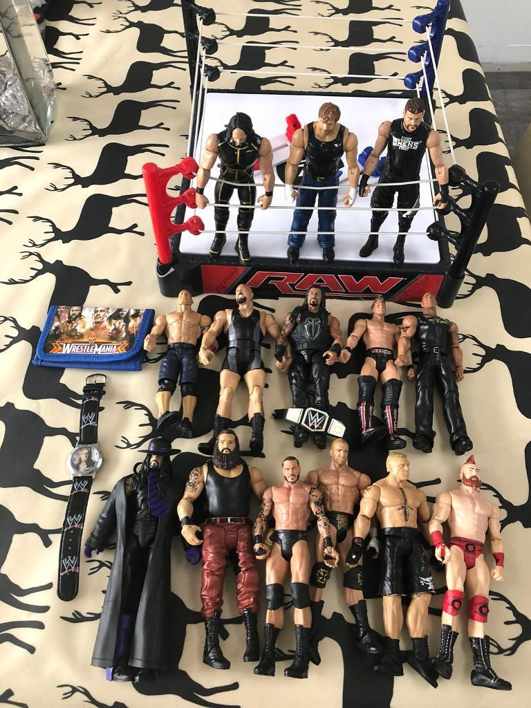 WWE Ring Figures Watch Wallet And Gym Bag