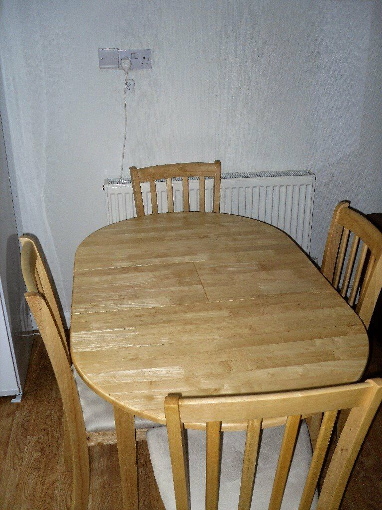 Extending Dining Table Chairs Light Wood Cream Upholstery In - Light wood extending dining table