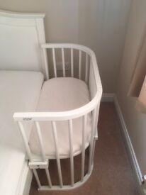 Babybay convertible side cot, rail and mattress